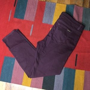 Michael Kors Burgundy Skinny Jeans Plus Sz 14